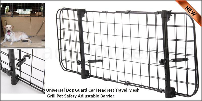 Universal Dog Guard Car Headrest Travel Mesh Grill Pet Safety Adjustable Barrier Fence