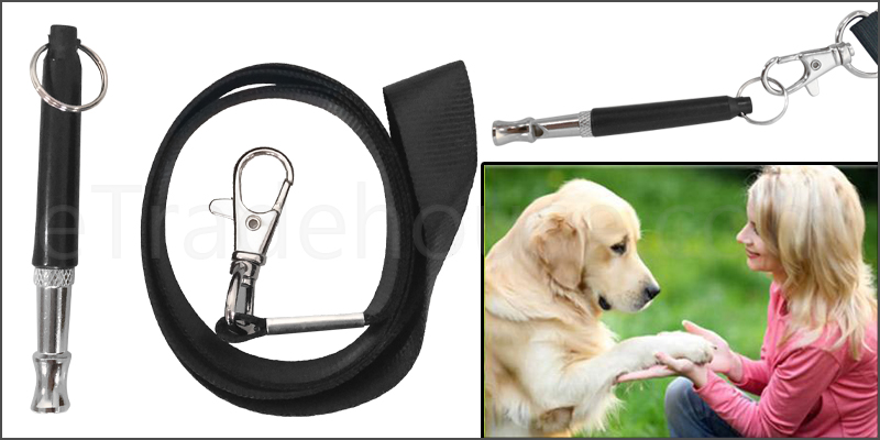 Dog Pet Whistle Puppy Training Ultrasonic Pitch Sound Adjustable Frequency Lanyard Key Chain