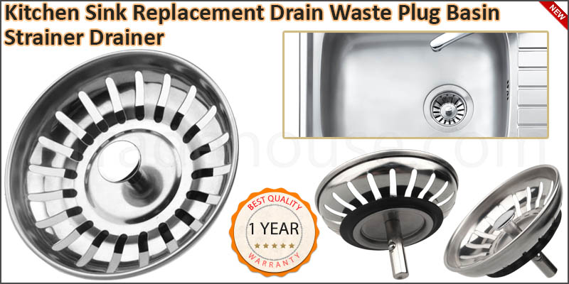 Premium Kitchen Sink Replacement Drain Waste Plug