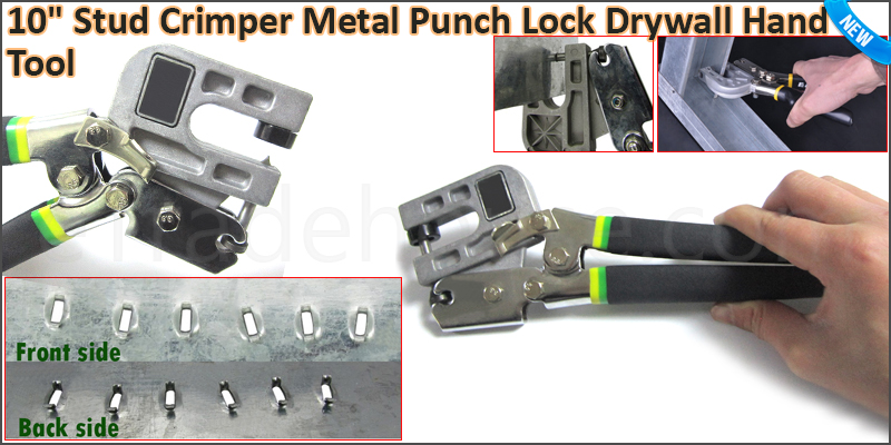 UK Version 10'' Stud Crimper (TPR handle) Metal Pu