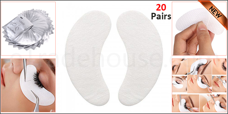 20 Pairs/Set Under Eye Lint Free Gel Pads Patches Eyelash Extensions Beauty Tool
