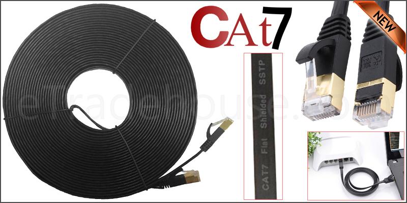 20 Meter Flat RJ45 CAT7 Ethernet Network Cable LAN