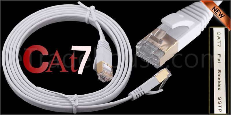 2 Meter Flat RJ45 CAT7 Ethernet Network Cable LAN