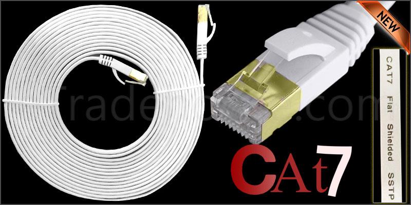 5 Meter Flat RJ45 CAT7 Ethernet Network Cable LAN