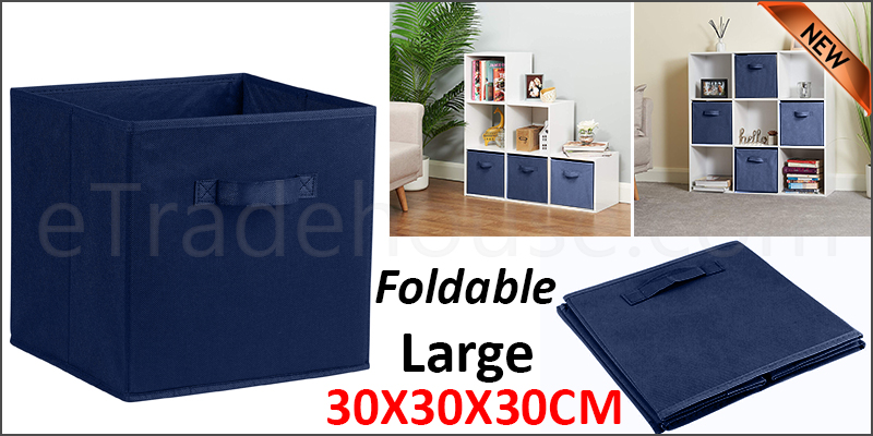 Foldable Square Canvas Storage Collapsible Folding Box Fabric Cubes Toys