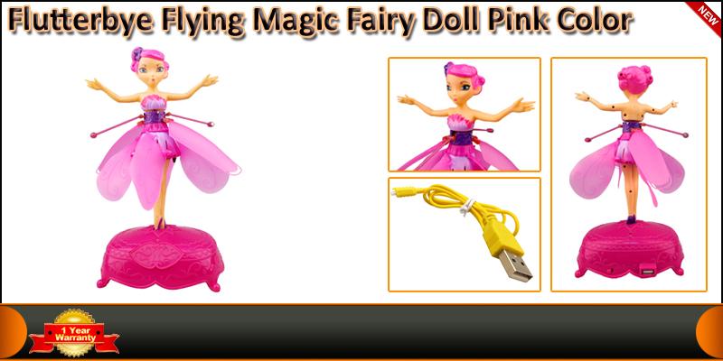 Flutterbye Flying Flower Magic Fairy Doll Pink Col