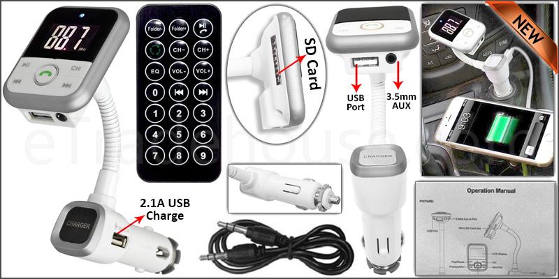 Wireless Bluetooth Car Kit MP3 Player FM Transmitt