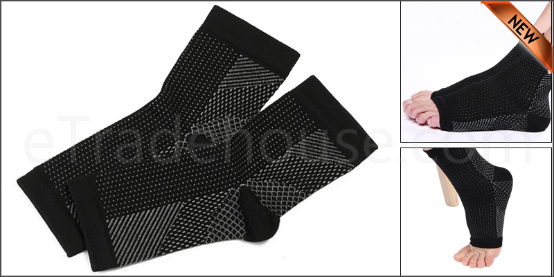 Uni-Sex Foot Angel Compression 2 SLEEVE Anti Fatigue Arch Heel Plantar Relief L/XL