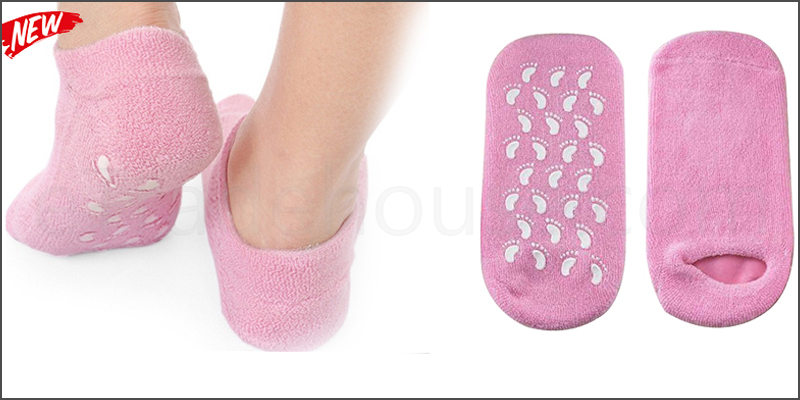Pair of Beauty Pure Moisturizing Dry Heels Foot Care Light Pink Socks One Size Fits All