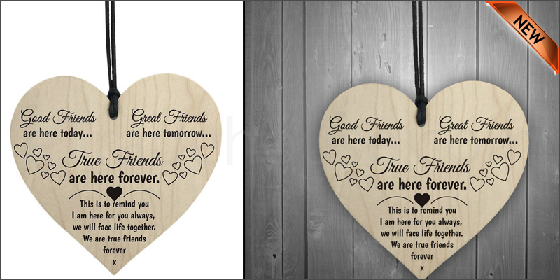 Good Friends Plaque Sign Best Friend Gift Shabby Chic Heart Birthday Valentine
