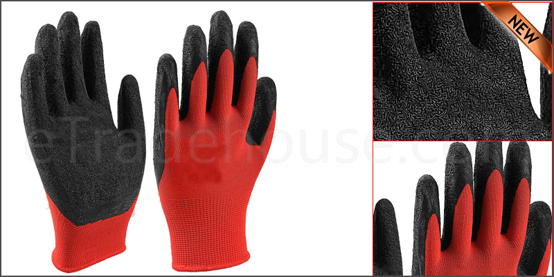 Pairs of Durable Safety Work Gloves Latex Garden Grip Builders Gardening Mechanic Warehouse DIY