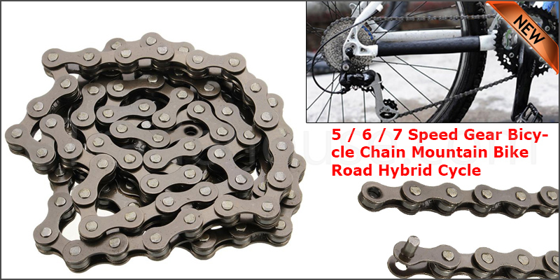 5 / 6 / 7 Speed Gear Bicycle Chain Mountain Bike Road Hybrid Cycle 116 Link