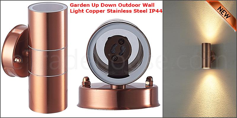 Waterproof Stainless Steel Up Down GU10 IP44 Double Indoor Outdoor Wall Light Copper
