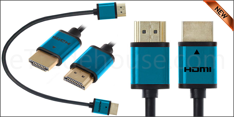 Premium Quality Slim 50cm HDMI V1.4 (19Pin) Male cable