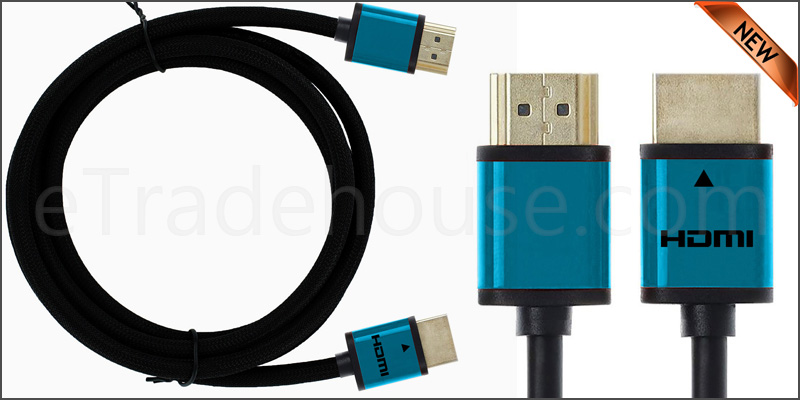 Premium Quality Slim 3 Meter HDMI V1.4 (19Pin) Male cable