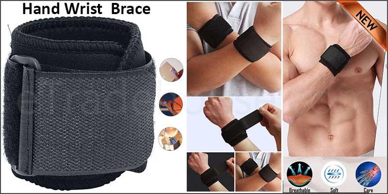 Adjustable Hand Wrist Support Wrap Brace Sports Arthritis Tendon Sprain Black UK