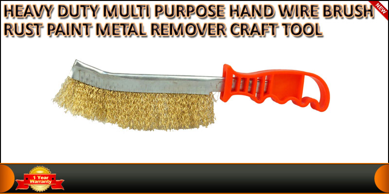 HAND WIRE BRUSH HEAVY DUTY WITH PLASTIC HANDLE DIY