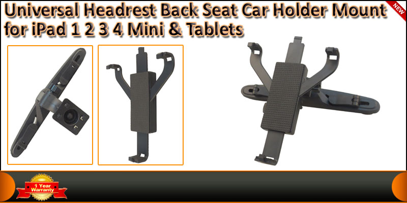 Universal 7-10 Inches Car Back Seat Tablet Mount H