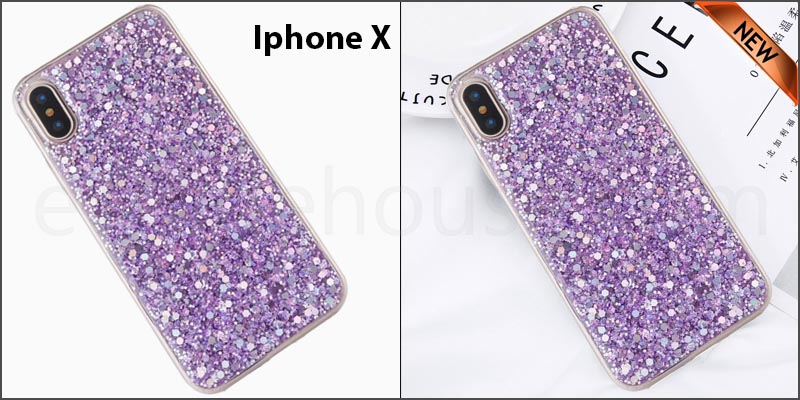Bling Silicone Glitter ShockProof Case Cover For Apple iPhone X