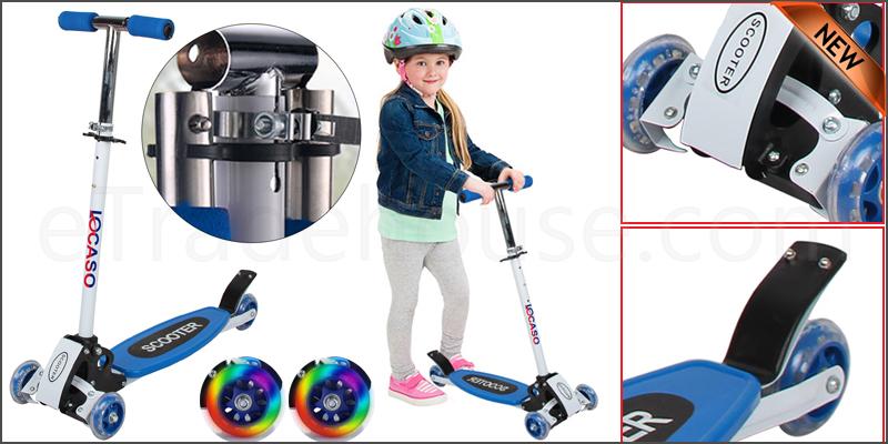 Kids Child Kick Push Mini Folding Scooter with 4 Wheel Outdoor