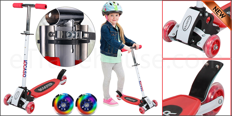 Kids Child Kick Push Mini Folding Scooter with 4 Wheel Outdoor