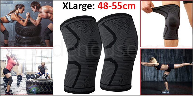 Pair Orthopaedic Heating Magnetic Knee Support Tourmaline Sprain Arthritis X Large