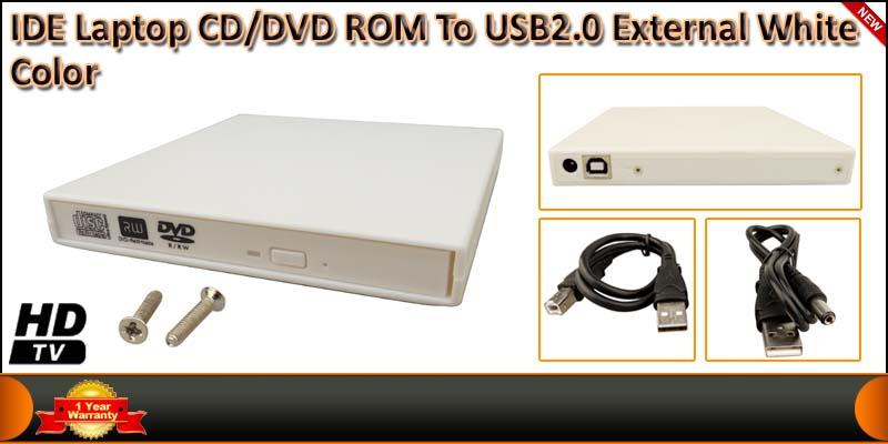 IDE Laptop CD/DVD ROM To USB2.0 External