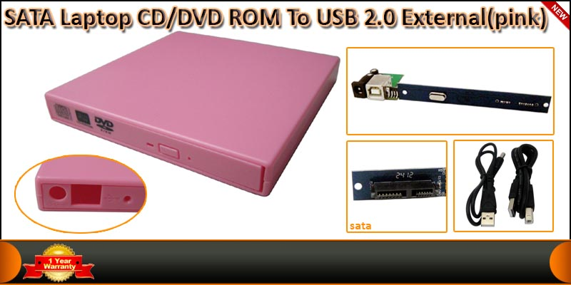 High Quality SATA Laptop CD/DVD ROM External Enclo
