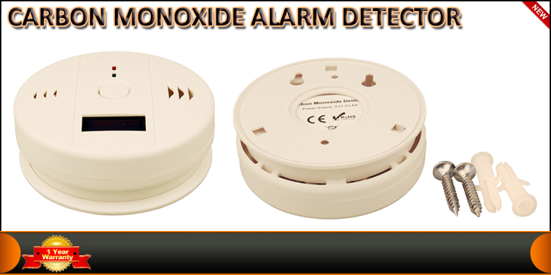 LCD Carbon Monoxide Smoke CO Detector Poisoning Ga