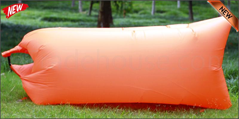 Lazy Lounger Inflatable Air Bed Sofa Lay Sack Hangout Camping Beach Bean Bag