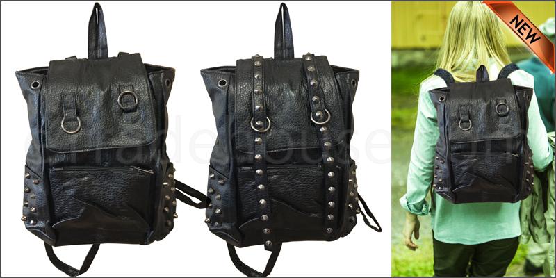 Girl School College Bag Travel Cute PU Leather Bac