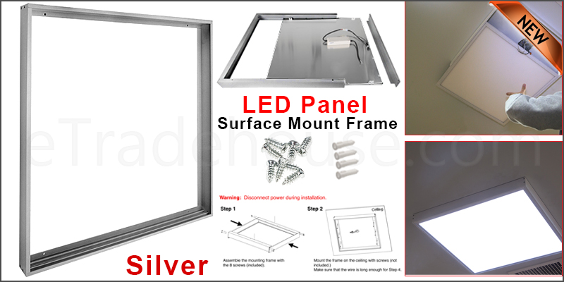 Surface Mount Kit for 600 x 600 LED Ceiling Panel Box Frame Sliver Body