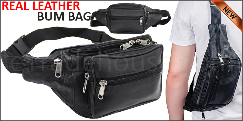 Large Bum Bag Waist Travel Pouch Leather Travel Holiday Money Pouch
