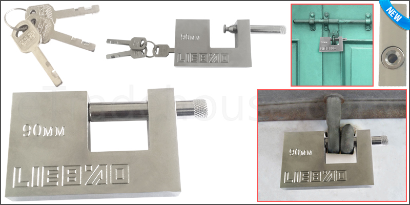 90mm Heavy Duty Anti Rust Shutter Padlock High Sec