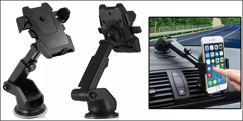 360° Universal Telescopic Car Windscreen Dashboard Holder Mount For GPS PDA Mobile Smart Phone