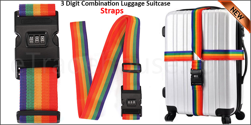Adjustable 5 Digit Combination Luggage Suitcase Straps Baggage Tie Down Belt