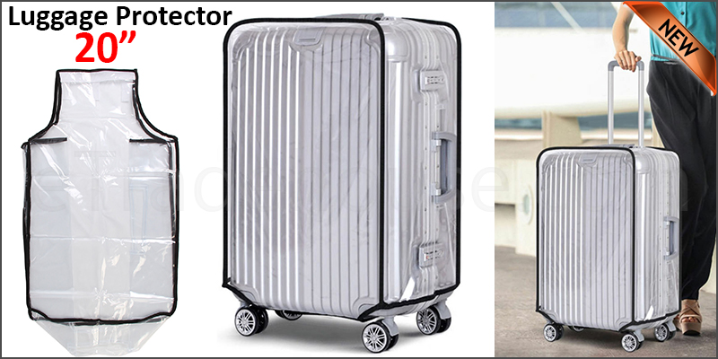 "20"" Waterproof PVC Luggage Suitcase Protector Case Cover"