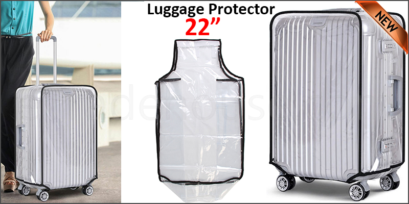 "22"" Waterproof PVC Luggage Suitcase Protector Case Cover"