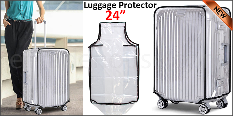 "24"" Waterproof PVC Luggage Suitcase Protector Case Cover"