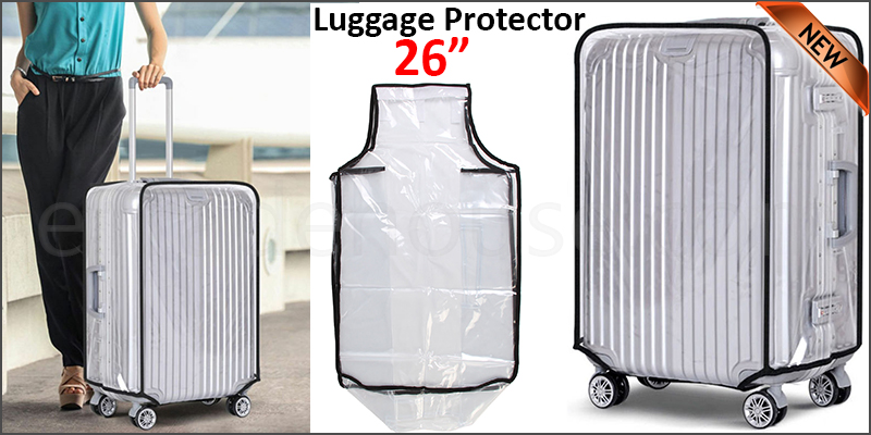 "26"" Waterproof PVC Luggage Suitcase Protector Case Cover"