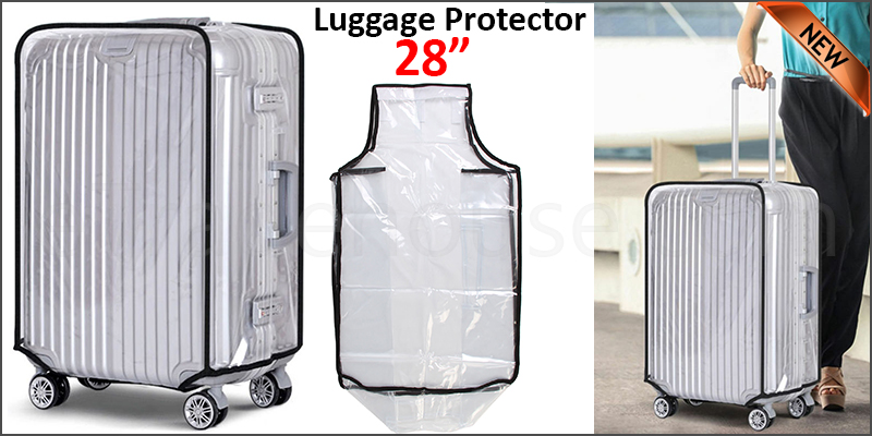 "28"" Waterproof PVC Luggage Suitcase Protector Case Cover"