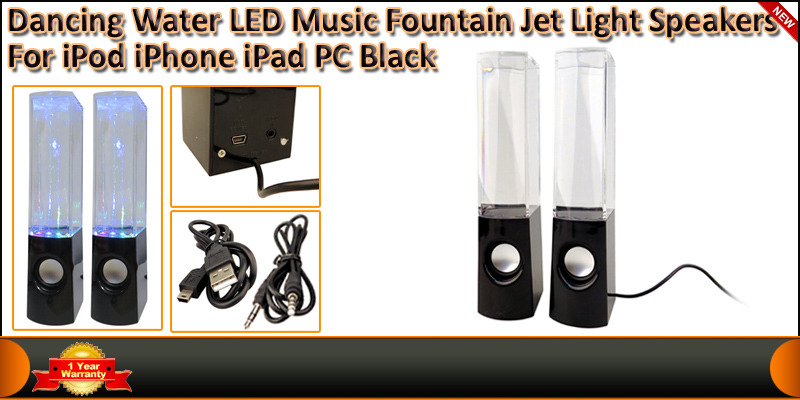 Dancing Water LED Music Fountain Jet Light Speaker