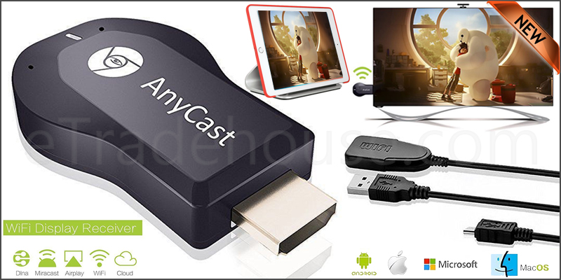 Anycast M4 Plus Wireless WiFi Display Receiver Dongle HDMI 1080P