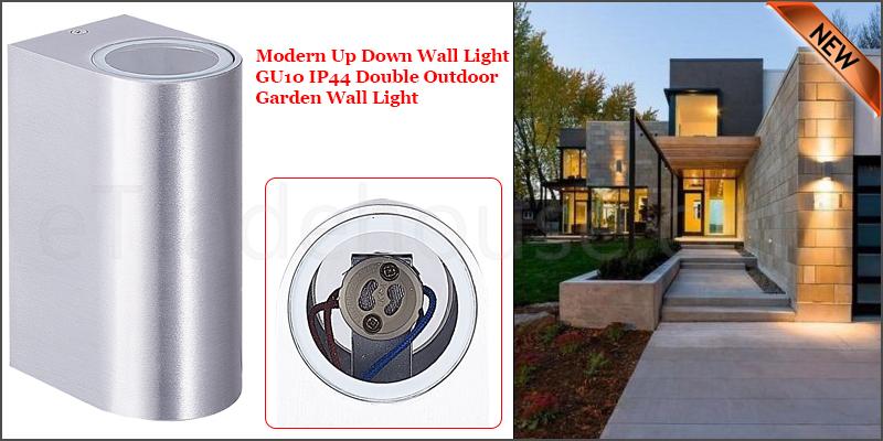 Modern Waterproof Up Down GU10 IP44 Double Indoor Outdoor Wall Light