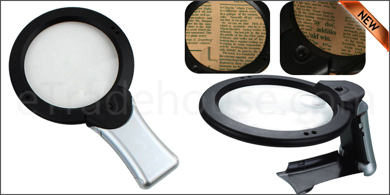 Magnifying Glass 6X Large Magnifying Glass With Light Led Lamp Magnifier Magnification Hands