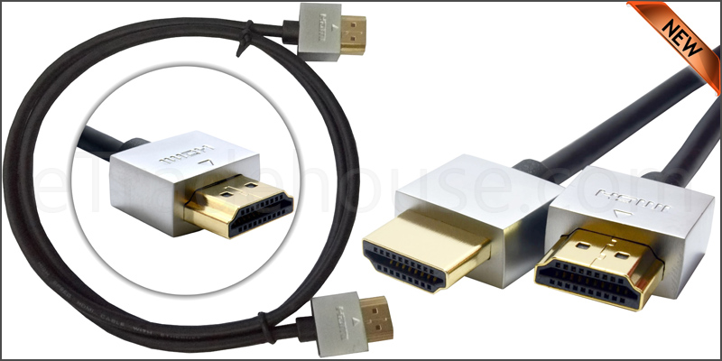 Gold Plated Ultra Slim 1 Meter HDMI V1.4 (19Pin) M