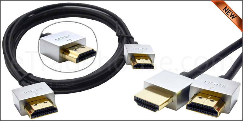 Gold Plated Ultra Slim 2 Meter HDMI V1.4 (19Pin) M