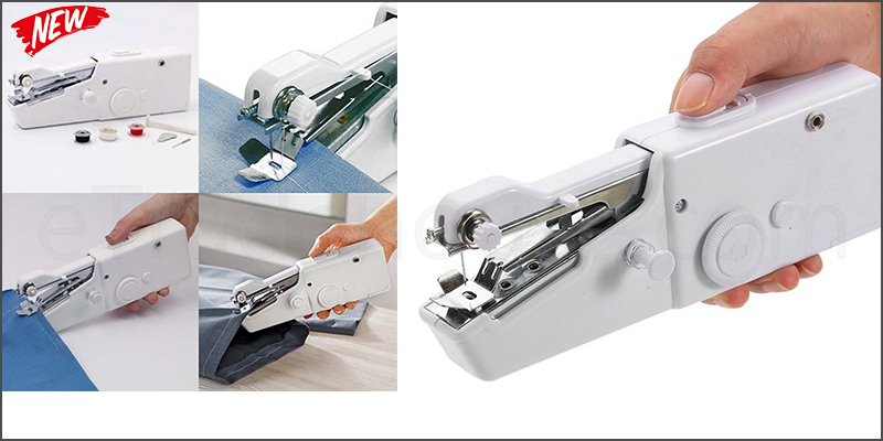 Sewing Machine Mini Portable Cordless Handheld Single Stitch Fabric Sewing Machine Home Travel