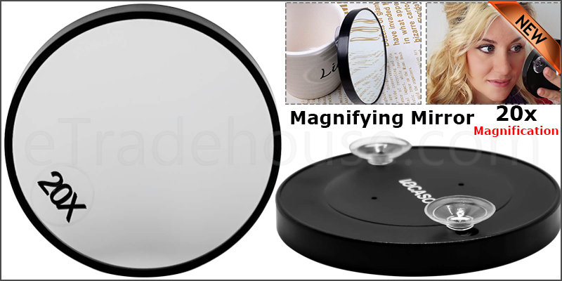 20X Magnifying Mirror Eye Makeup Professional Pocket Vanity Eyebrow Tweezing