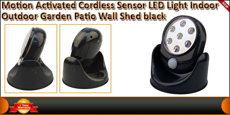 Motion Activated Cordless Sensor 7 LED Light Indoo